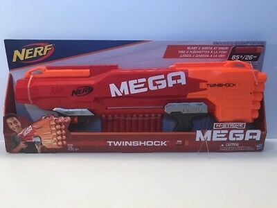 Nerf N-Strike Elite Shotgun Pump Double Barrel Toy Gun Blaster Foam Mega Dart 10