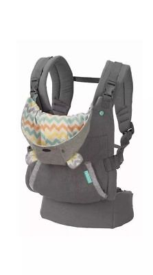 Infantino Cuddle Up Carrier Ergonomic Hoodie Baby Carrier Grey 12-40 lbs