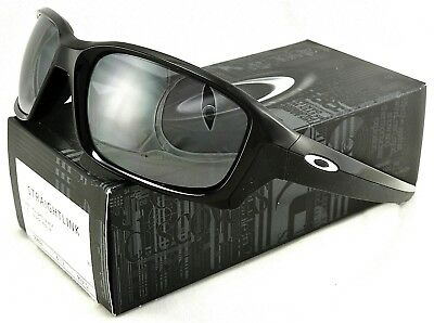 031f6c1904 New Oakley Straightlink Sunglasses Oo9331-01 Polished Black   Black Iridium