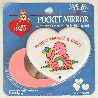 Vtg Care Bears pocket mirror designer collection American Greetings purse