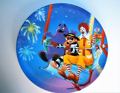 "McDonald's 1993 Plastic Child's Dinner Plate 9 1/2"" Excellent Condition PMC USA"