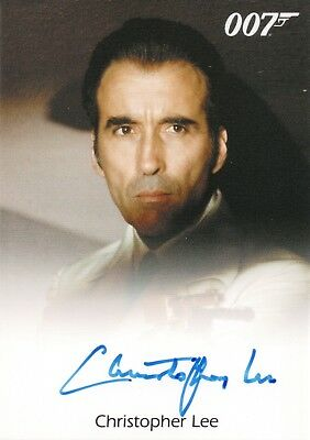 James Bond Archives 2015 Christopher Lee 'Scaramanga' Autograph Card