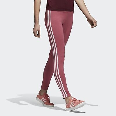 1bfe41f9caaa7a New Women's Adidas Originals 3-Stripes Leggings [Dh3167] Trace Maroon //  White
