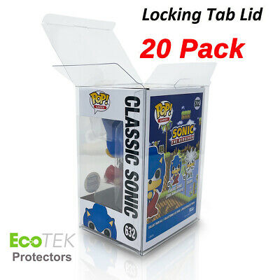 "20 Collectibles Funko Pop! 4"" Vinyl Box Crystal Clear Acid Free Strong Protector"