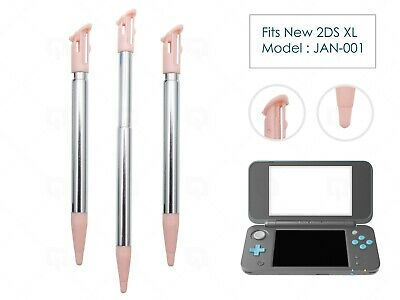 3 x Pink Extendable Stylus for New Nintendo 2DS XL/LL Plastic Replacement Pen