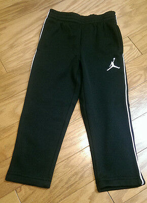 Boys Jordan Sweat Pants 2T Black White NWT $48 Therma Fit Sweats Daycare Play