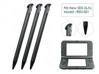 3 x Black Plastic Replacement Pen Stylus Touch for Nintendo New 3DS XL/LL 2015+