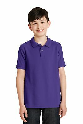 Port Authority  Youth Silk Touch Polo. Y500 Purple M