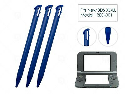 3 x Blue Plastic Replacement Pen Stylus Touch for Nintendo New 3DS XL/LL 2015+