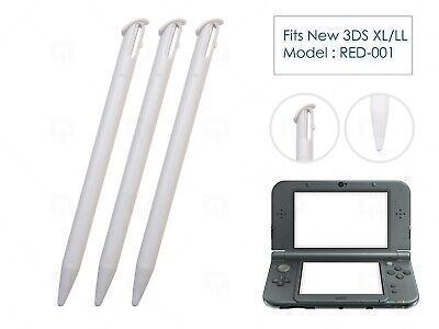 3 x White Plastic Replacement Pen Stylus Touch for Nintendo New 3DS XL/LL 2015+