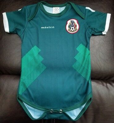 c4d2d22be Green Mexico Soccer Team 2018 World Cup Baby Jersey Overall Pañalero  Mameluco