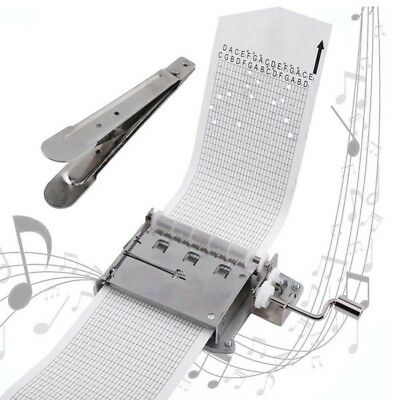 30 Note Hand Cranked Music Box Movement+Hole Puncher+20/pcs Paper Tape Gift HS