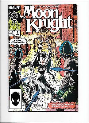 Moon Knight #1 (1985) Fist of Khonshu NM- 1st app of Moon Knight's new weapons