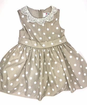 cea7fede167 Jason wu Girls Size 2 2T Dress Target Nieman Marcus Polka Dot Embroidered  Collar