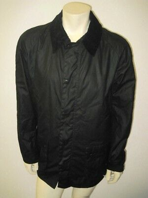 NWT BARBOUR Black ASHBY Wax Jacket Size XL