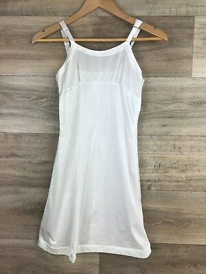 Her Majestic Girls Size 12 White slip 100% nylon white long under dress