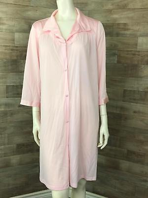 83e9f2395f Vintage Vanity Fair Women s Pink Size Large button down robe house coat  light