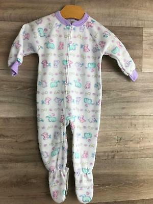 Vintage Carters girls Sleeper fleece size 2T Footed Pjs Sleep Play wear dinosaur