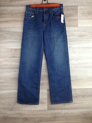Gap Kids Boys Size 12 Blue Jeans Loose Fit Denim adjustable waist NEW