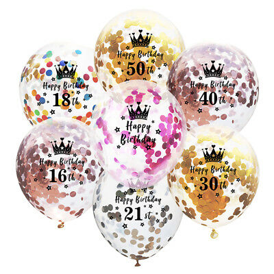 10PCS/Lot Confetti Balloons 12Inch Happy Birthday latex Air Balloons Party Decor