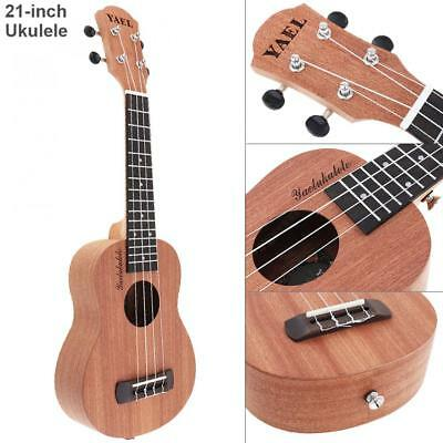 21'' Soprano Ukulele Sapele Wood 15 Fret Four Strings Hawaii Guitar Instrument