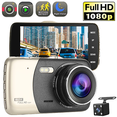 "4"" Vehicle 1080P Car Dashboard DVR Camera Video Recorder G-Sensor Dash Cam"