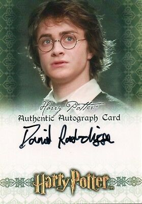 Harry Potter & The Goblet of Fire, Daniel Radcliffe 'Harry Potter Autograph Card