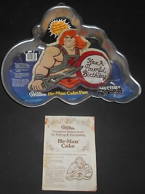MASTERS OF THE UNIVERSE Kuchenblech He Man Cake Pan WILTON 2105 3184 Von 1983