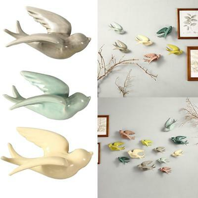 Retro Ceramic Swallows Shape Wall Decoration Pendant Living Room Wall Art Decor