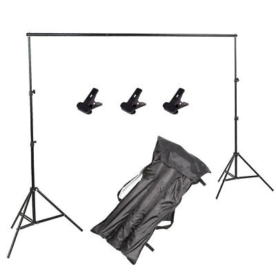 Photography Photo Screen Background Support Stand Kit Studio Backdrop 3x2m