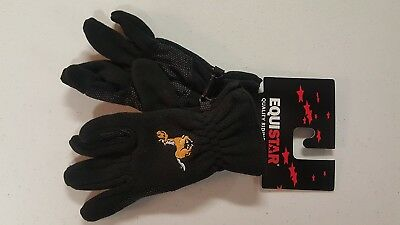 (Medium) - Equi-star Childs Pony Fleece Glove Black. Huge Saving