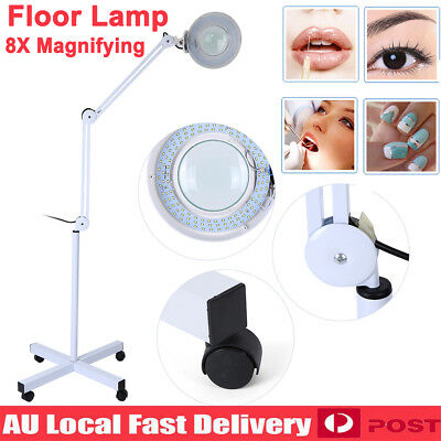 "5"" 8X Magnifier Lamp Magnifying Light Nail Beauty Salon Dental Tattoo Floor Lamp"