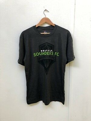 Seattle Sounders Majestic Men's MLS Club Graphic T-Shirt - Large - Charcoal -New