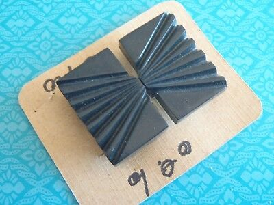 Vintage French Deco Black Buckle 43x33mm for 20mm belt womens accessories