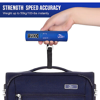Portable Travel Tare Hanging 110lb LCD Digital Suitcase Luggage Pocket Scale