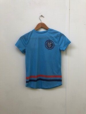 New York City FC Primark Kid's MLS Club Logo T-Shirt - 9-10 Years - Blue - New
