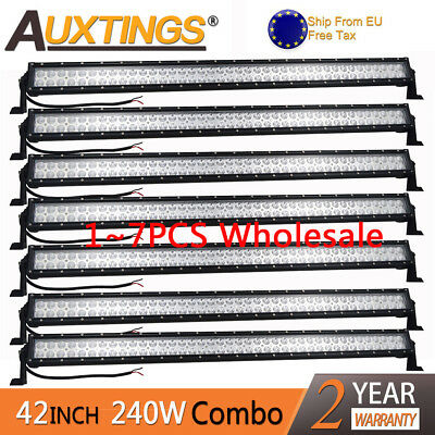 Wholesale 1~7pcs 42''inch 240W LED Work Light Bar Offroad Boat Car SUV 12V 24V