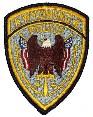 WYOMING WY Police Sheriff Patch EAGLE SCALE OF JUSTICE VINTAGE OLD ~