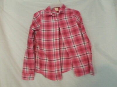 Girls' Pink Plaid Long Sleeve Shirt by Faded Glory Size XL 14-16