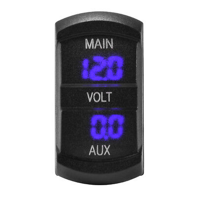 12V Dual Voltmeter Voltage Gauge Blue LED Digital Battery Monitor Socket MA1745