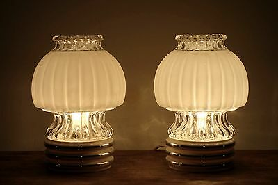 Lámparas de mesa vintage 1960s Graewe vintage table lamps couple pareja