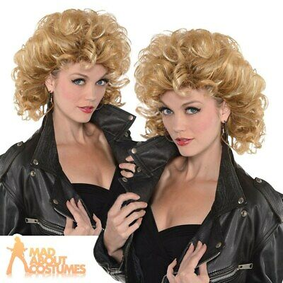Adult Sexy Sandy Wig Grease 1950s Ladies Fancy Dress Costume Accessory