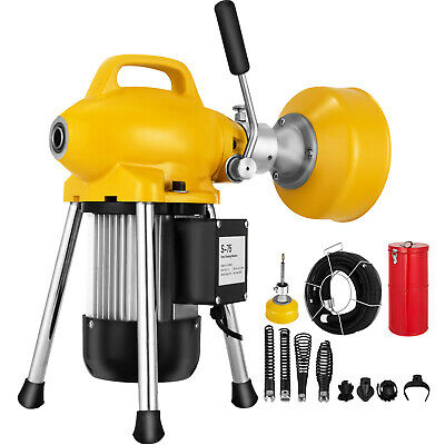 """3/4""""-5"""" Drain Cleaner 500 W Sectional Sewer Snake Drain Auger Cleaning Machine"""