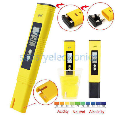 PH Meter TDS EC Water Filter Hydroponic Pool Tester Pen Tester Strip LCD Digital