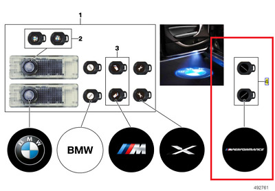 BMW Genuine M Performance LED Door Projector Slides PERFORMANCE LENSES ONLY !!!!