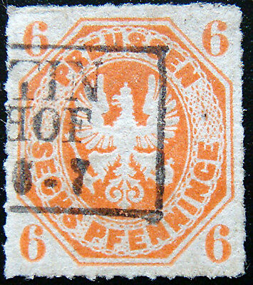 PRUSSIA 1861 6pf Coat of Arms Used
