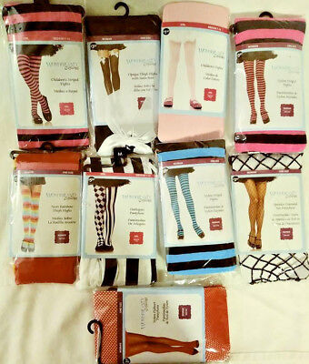 Wonderland Costumes Children's & Woman's Tights / Pantyhose 9 Total Free Ship