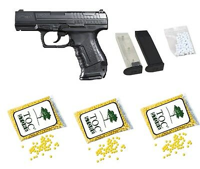 TOC STORE®  Set Walther P99 Softair Pistole < 0,5 Joule inkl 3000 TOC STORE® BBs