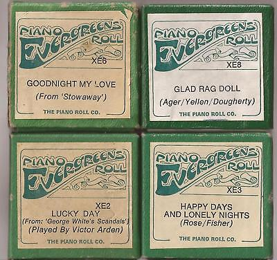 Pianola Rolls x4 John Farrell  Glad Rag Doll +3 more