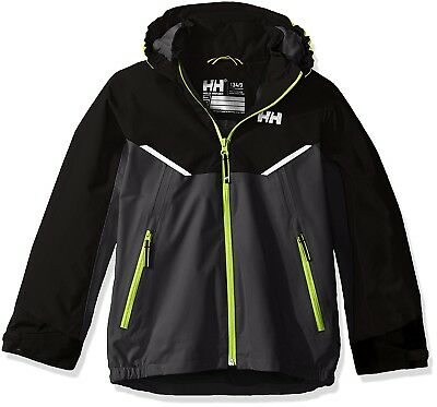 (Size 8, Charcoal) - Helly Hansen Children's K Shelter Jacket. Delivery is Free